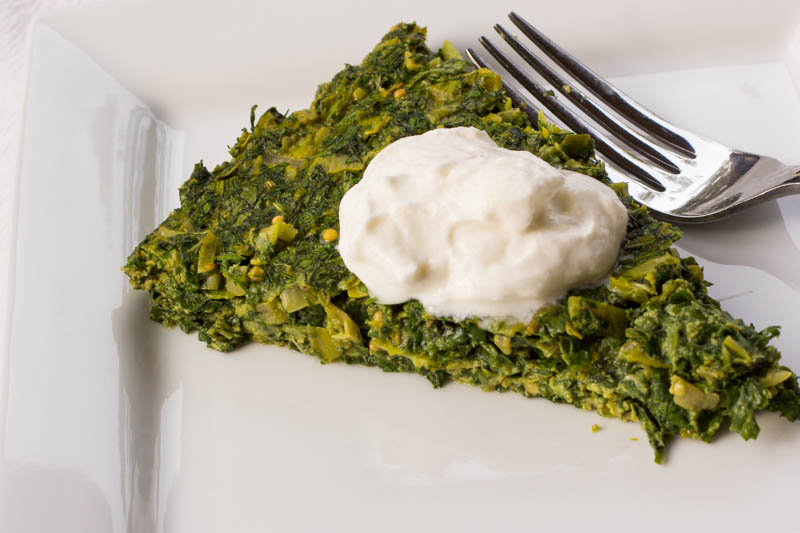 Persian Herb Leek Frittata - For Swooning