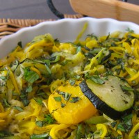 Roasted Zoodles - Garden Goodness