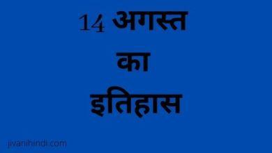 Photo of 14 अगस्त का इतिहास -14 August History Hindi