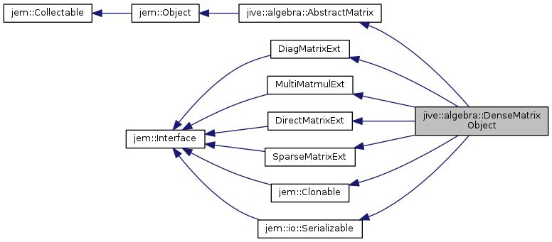 Jive reference manual: jive::algebra::DenseMatrixObject