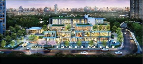敷地1万㎡で4階建てのコミュニティー・モール「HABITO」がオンヌットに建設される