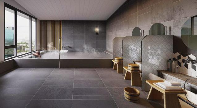 日本人にはうれしい大浴場も完備