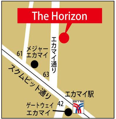 サ・ホライズンの地図