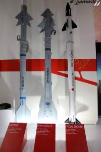 Derby, Python-5 and Iron Dome Missiles