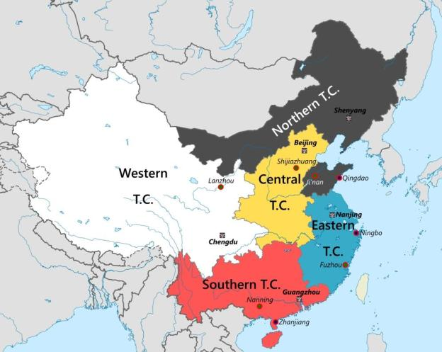PLA theater commands map