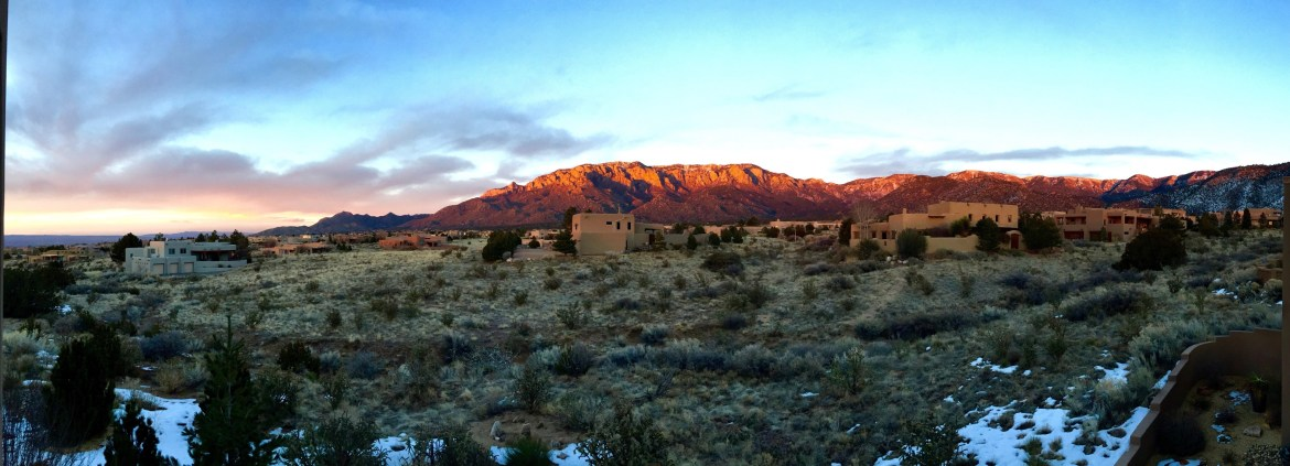Sandia Peak at Sunset