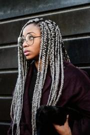 drool-worthy gray braids inspiration