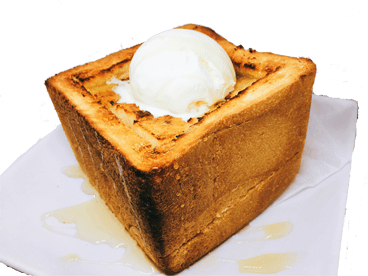 Honey toast (with vanilla ice)