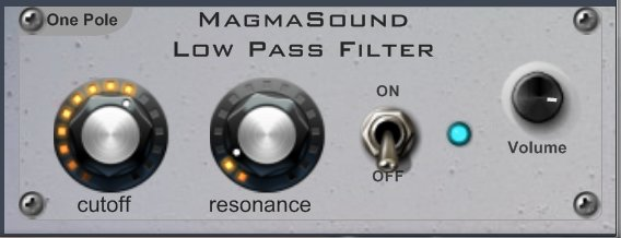 Filtros LP/HP vst MagmaSound one pole (1/2)