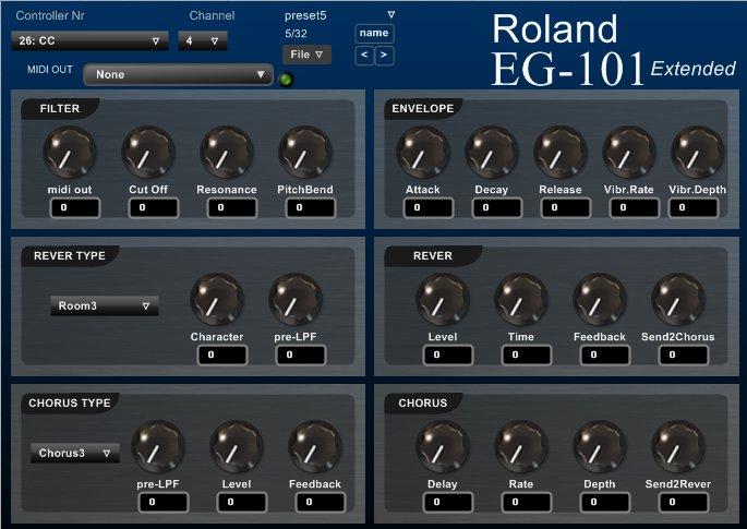 Roland EG-101 Extended vsti
