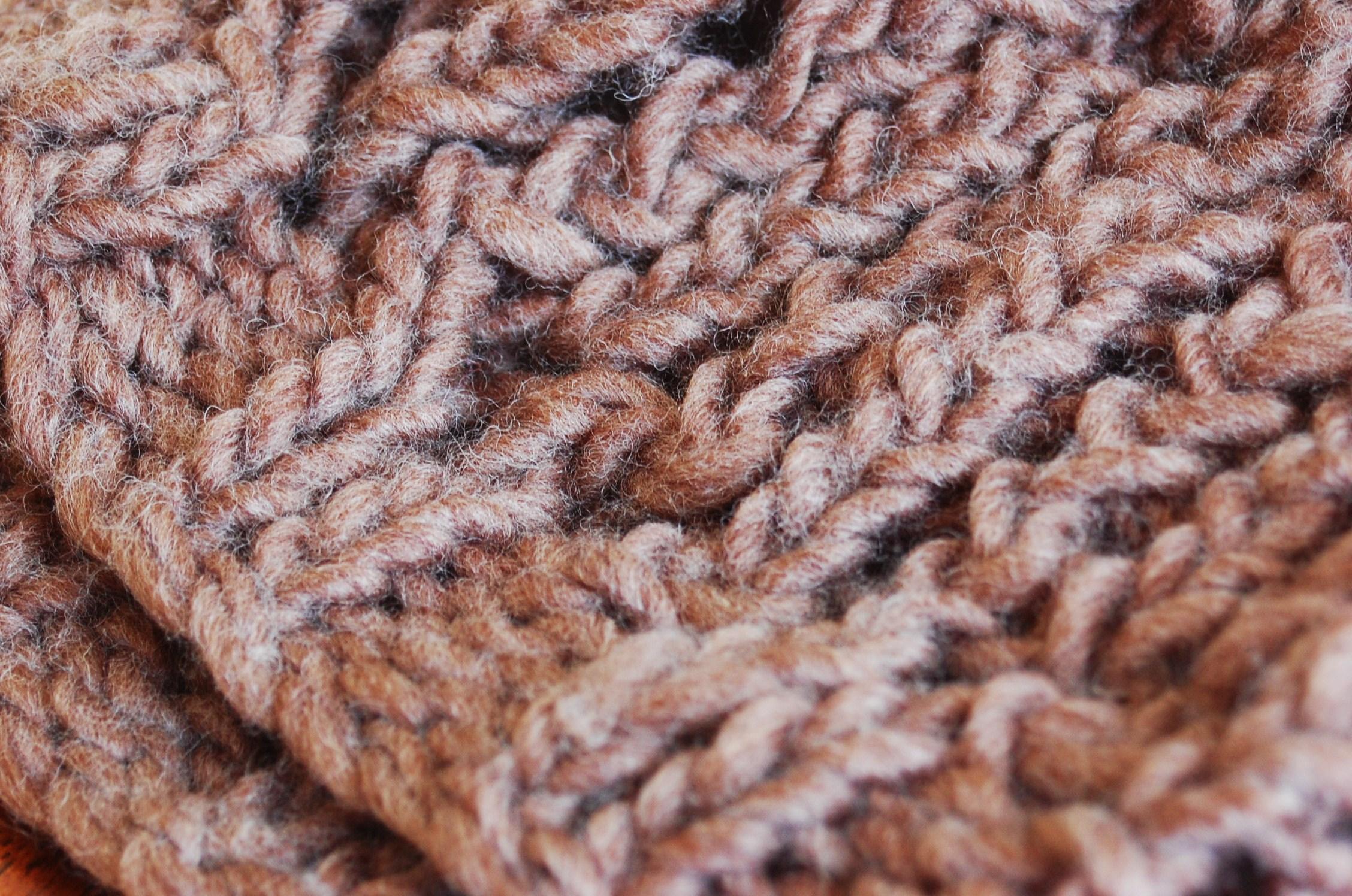 Chunky Knit Fall Hat Free Pattern - Open Lace Design by JJCrochet