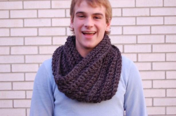 Men's Crochet Cowl