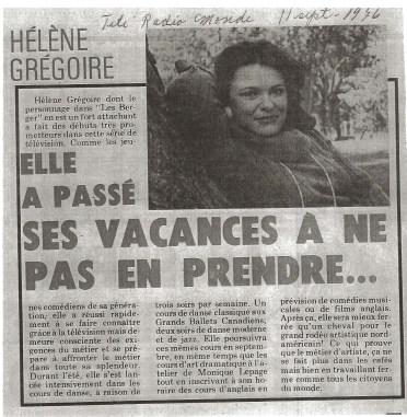 Helene Gregoire LesBerger©TeleRadiomonde11septembre1976