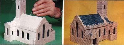 Iglesia de Piedra antes y después de pintar