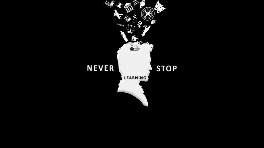 Frase nunca dejes de aprender.