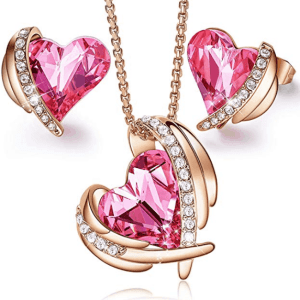 CDE Heart Pendant Necklace for Women