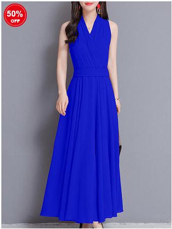Image_Popjulia_v_neck_women_dress_blue
