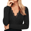 Floral Lace Sexy Shirt (black)