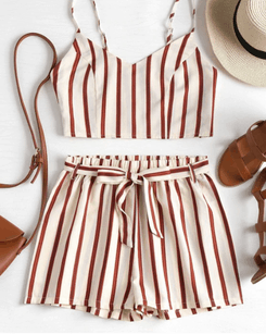 Image_Zaful_red_striped_belted_shorts_