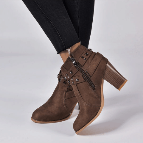 Image_Berrylook_casual_beld_buckle_heel_boots_brown