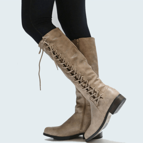 Image_Berrylook_Outdoor_knee_high_boots_ Khaki