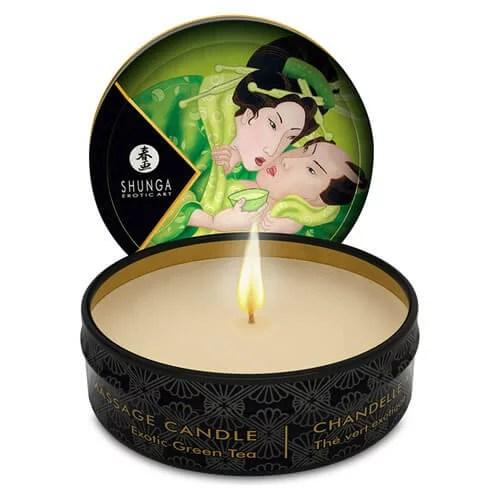 Shunga 按摩油蠟燭 芳香綠茶 30 ml