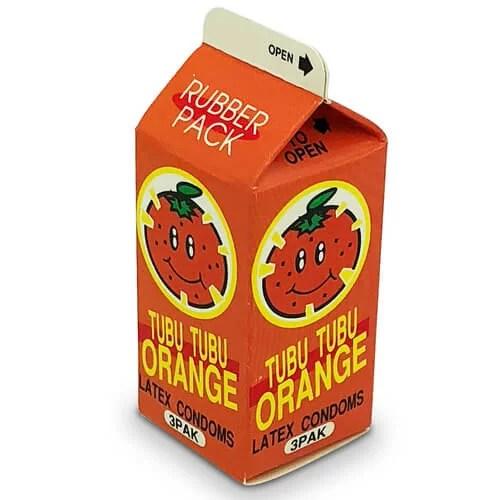 中西 甜橙味安全小包 3 片裝