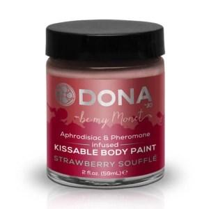 Dona 親吻人體彩繪 草莓梳乎里 60 ml
