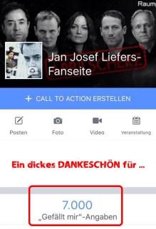 Am 11. April durften wir uns über 7.000 Follower auf der FB-Seite freuen.