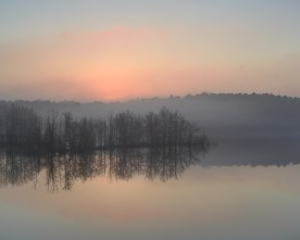 Watercolor Dawn — Jordan Lake, NC © jj raia