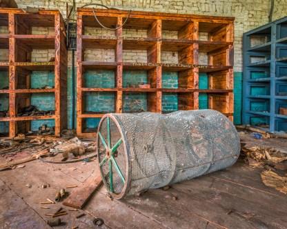 Lint Drum - Abandoned Textile Mill — © jj raia