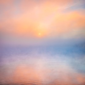Foggy Sunrise —Jordan Lake, NC © jj raia