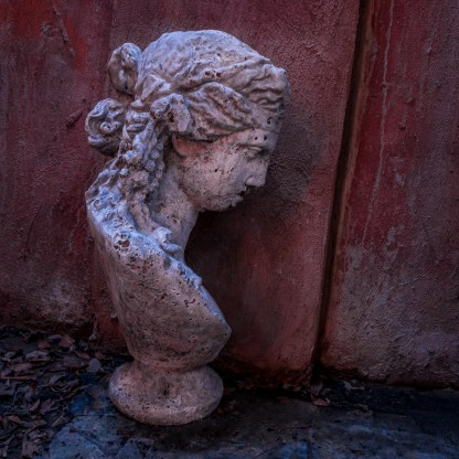 Sculpture from the burned home — Charleston, SC