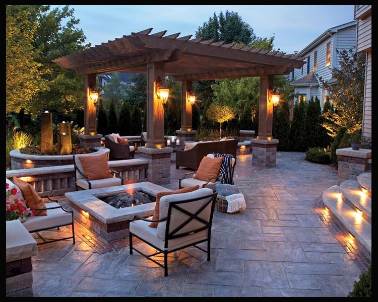brick patio landscape design mi