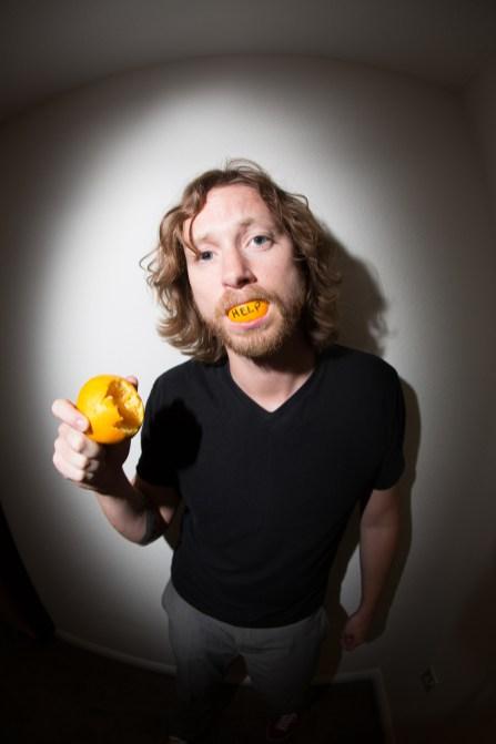 choking on an orange