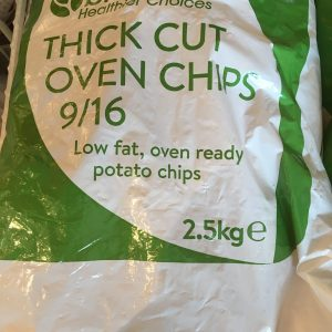 2.5kg thick cut oven chips