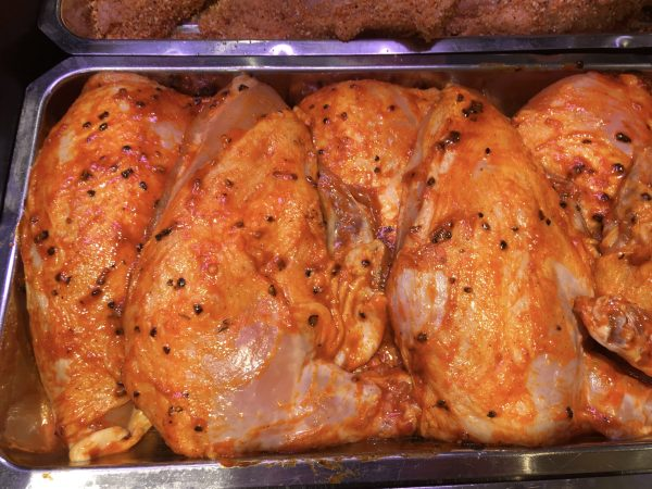 Chicken part boned breast with chilli marinade
