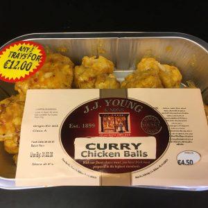 Curry chicken balls