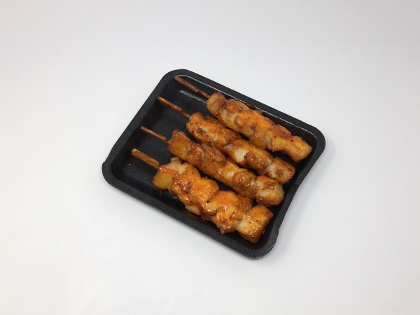 Cooked Chicken Skewers in Tomato & Pepper