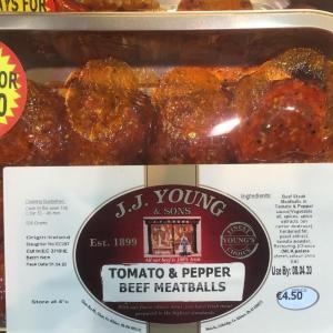 Tomato & Pepper Beef Meatballs