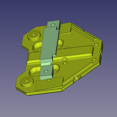 Mounting Plate bottom contours and mounting spacer