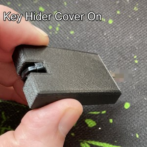 The cover slid onto the key to keep it discrete.