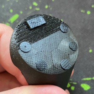 Close up of base texture and rubber pads for Pro model