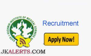 SKIMS Recruitment jobs