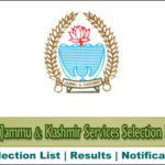 JKSSB Various Selection Lists