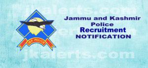 J&K Police Constable Recruitment 2019.