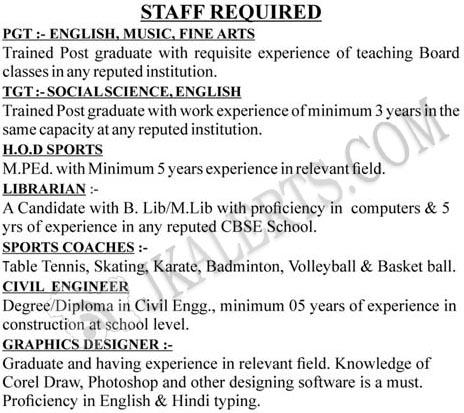 G.D. Goenka Public School Jammu Recruitment 2019.