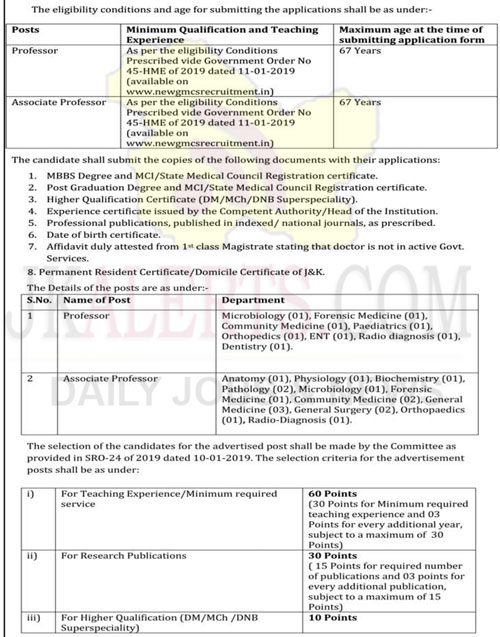 New Gmc Kathua Jobs Recruitment 2020 Pristine Kashmir