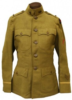 US Army Coat. It is plainer in design. I took the picture from the Mississippi State History and Archives site at http://mdah.state.ms.us/senseofplace/tag/world-war-i/