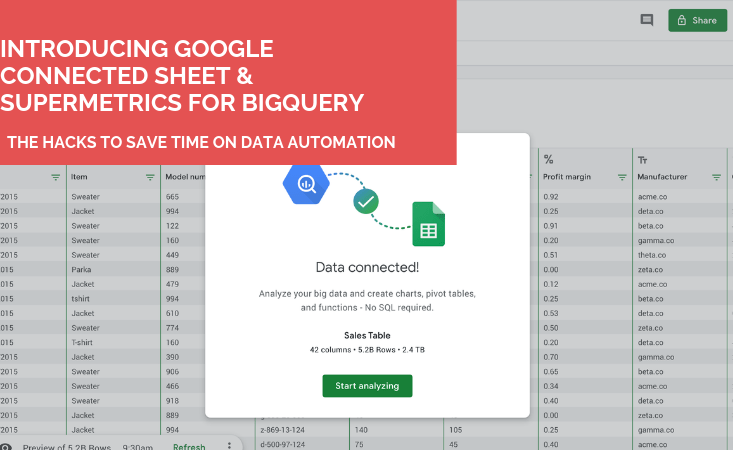 What's Google Connected Sheet? Supermetrics for BigQuery users?